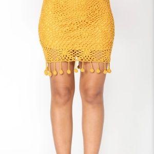 Mustard Crochet Set